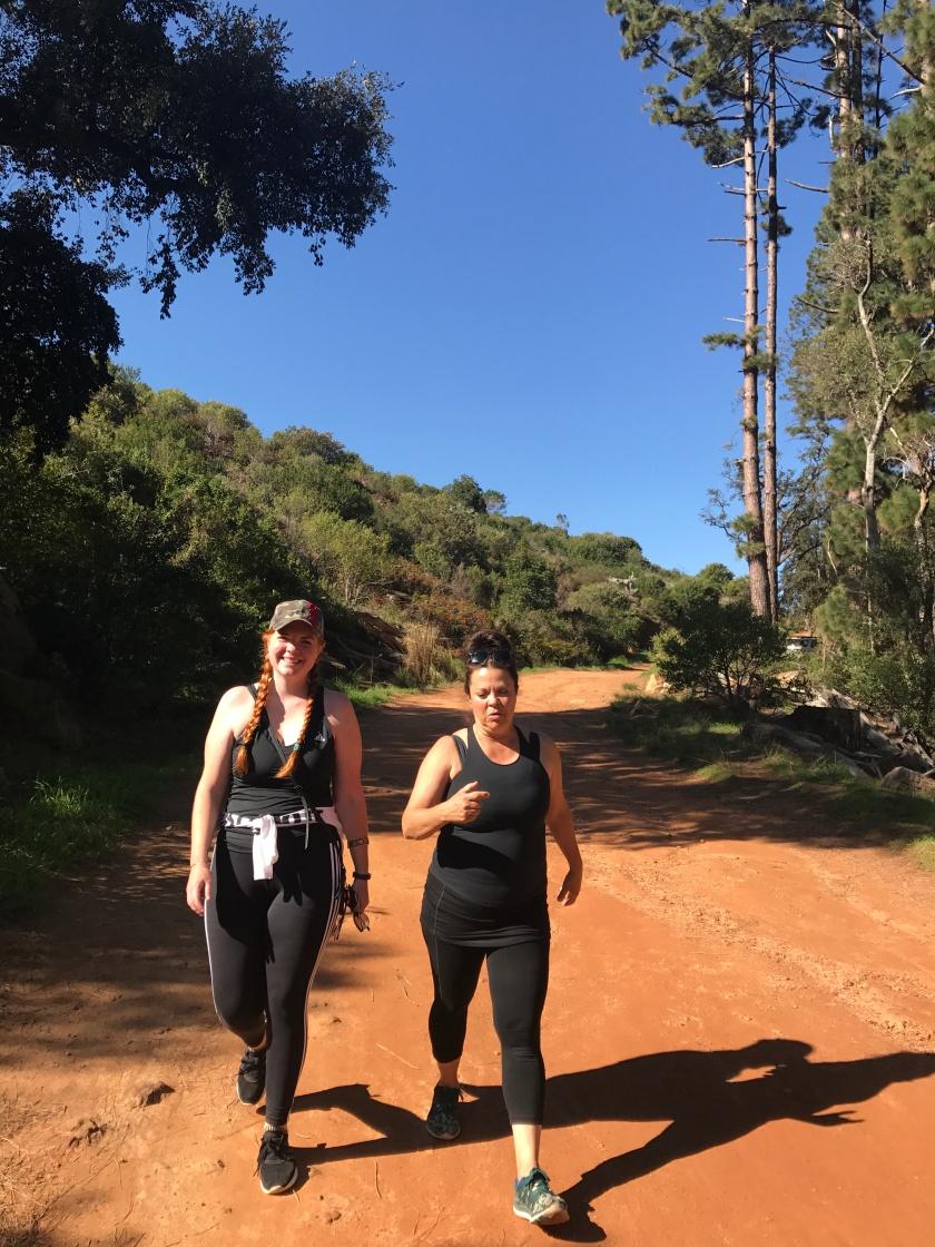 Hiking with Sarina and Bailey